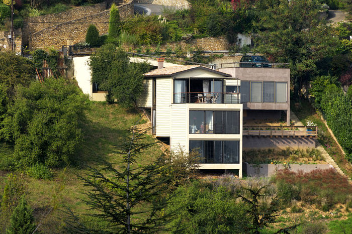 House built on a very sloping land