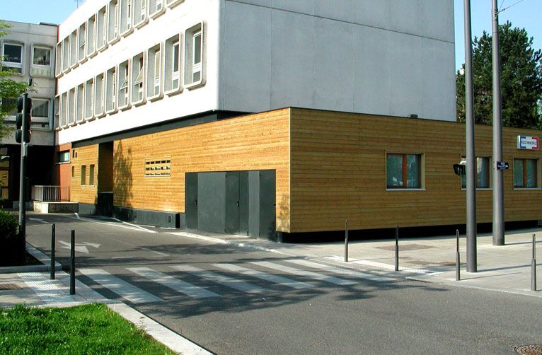 Wooden building extension