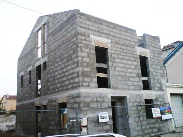 Overview of completed masonry