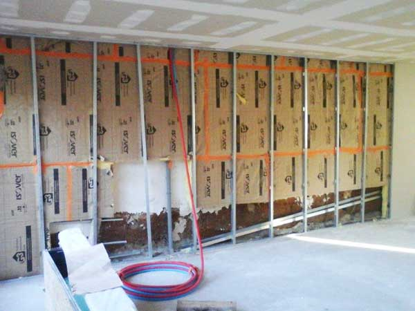 Partition with insulation