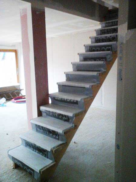Installation of stairs to the first floor