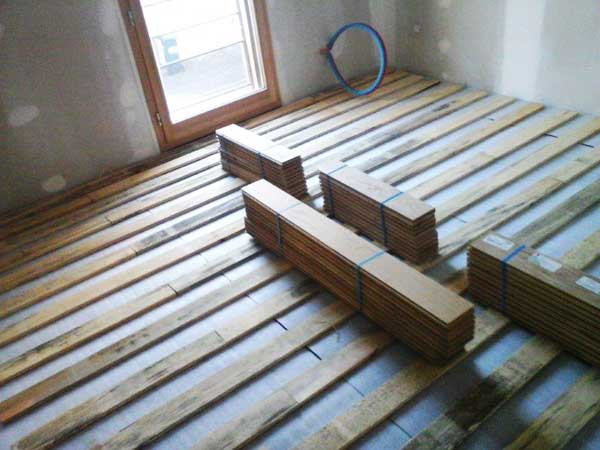 Installation of the of floating floor