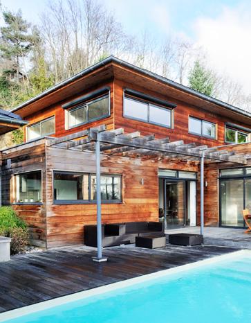 Cedar wood house