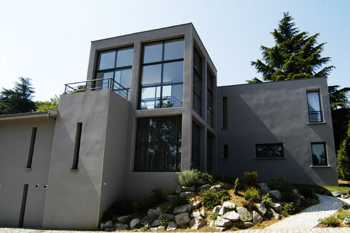 Modern house with many windows