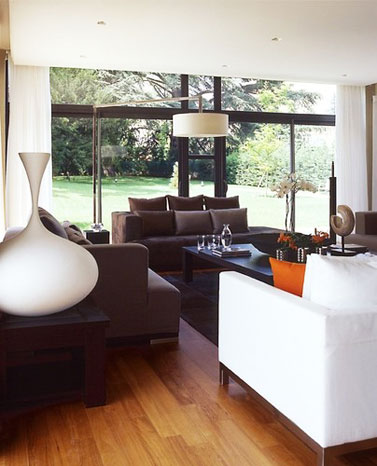 Living room with contemporary style