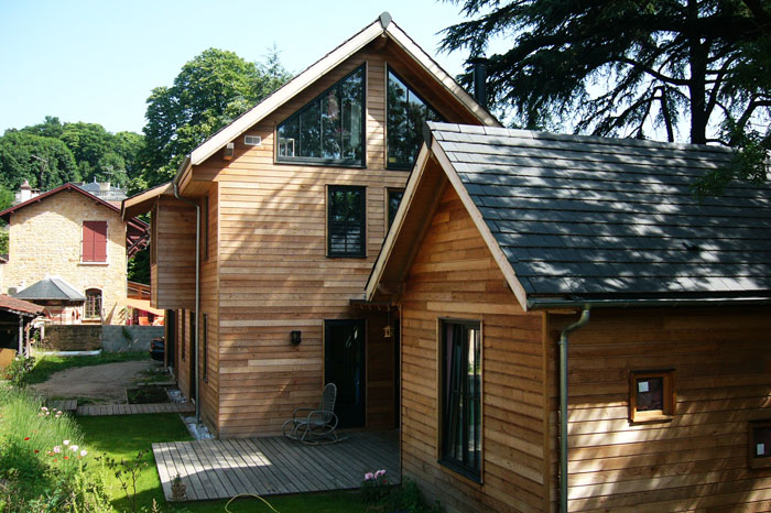 Large wooden house for a large family